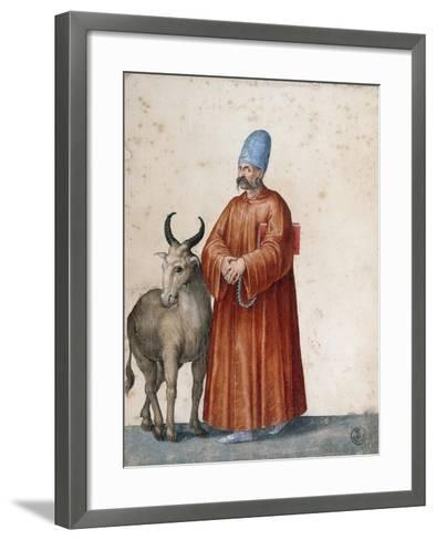 Turkish Man with Goat-Jacopo Ligozzi-Framed Art Print