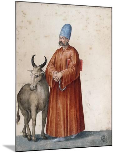 Turkish Man with Goat-Jacopo Ligozzi-Mounted Giclee Print