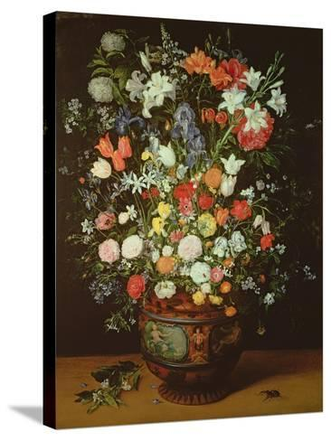 Still Life of Flowers in a Vase-Jan Brueghel the Younger-Stretched Canvas Print
