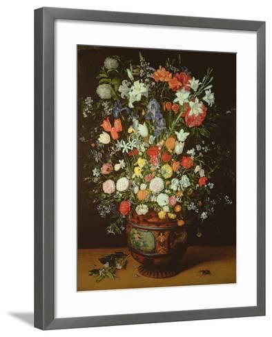 Still Life of Flowers in a Vase-Jan Brueghel the Younger-Framed Art Print