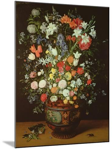 Still Life of Flowers in a Vase-Jan Brueghel the Younger-Mounted Giclee Print