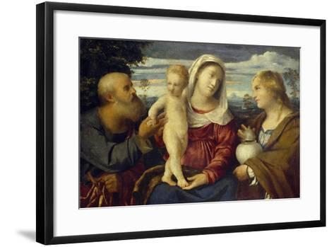 Sacra Conversazione, 16th Century-Jacopo Palma-Framed Art Print