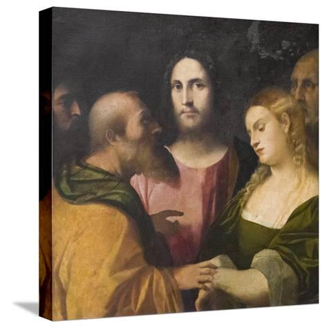 Christ and the Adulteress, 1525-28-Jacopo Palma-Stretched Canvas Print
