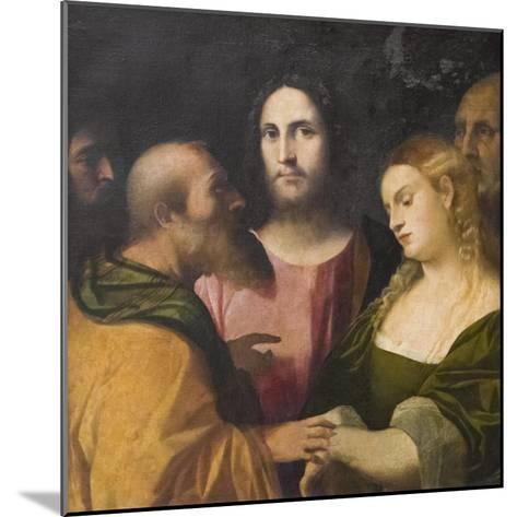 Christ and the Adulteress, 1525-28-Jacopo Palma-Mounted Giclee Print