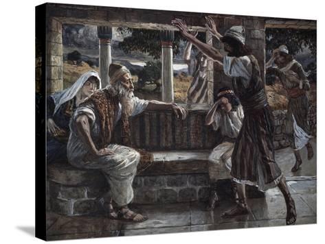 Job Hears Bad Tidings-James Jacques Joseph Tissot-Stretched Canvas Print