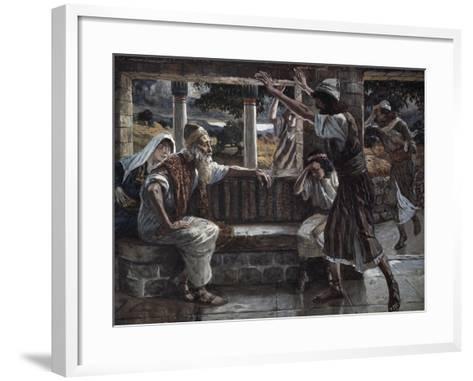 Job Hears Bad Tidings-James Jacques Joseph Tissot-Framed Art Print