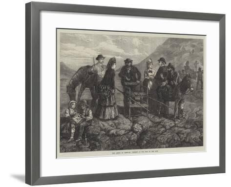 The Ascent of Vesuvius, Tourists at the Foot of the Cone-J.M.L. Ralston-Framed Art Print