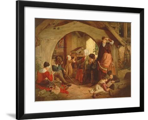 Sabbath Evening-James Drummond-Framed Art Print