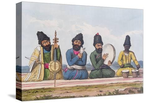 Persian Musicians from A Second Journey Through Persia 1810-16-James Justinian Morier-Stretched Canvas Print
