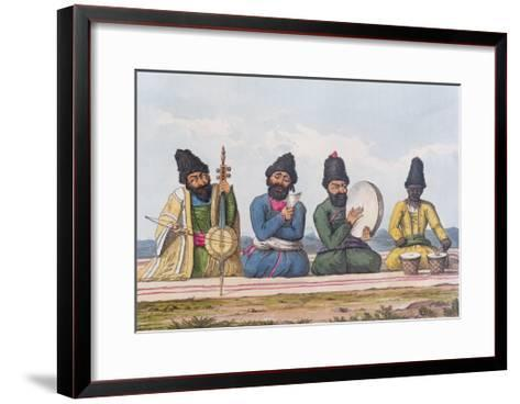 Persian Musicians from A Second Journey Through Persia 1810-16-James Justinian Morier-Framed Art Print