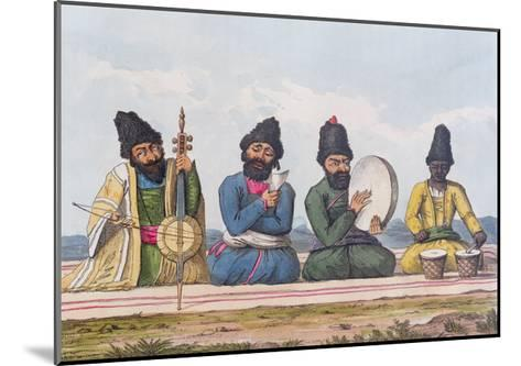 Persian Musicians from A Second Journey Through Persia 1810-16-James Justinian Morier-Mounted Giclee Print