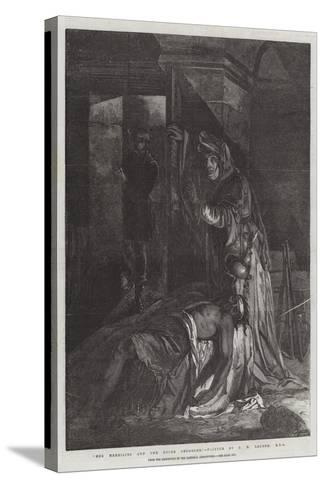 Meg Merrilies and the Dying Smuggler, from the Exhibition of the National Institution-James Eckford Lauder-Stretched Canvas Print