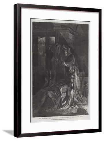 Meg Merrilies and the Dying Smuggler, from the Exhibition of the National Institution-James Eckford Lauder-Framed Art Print