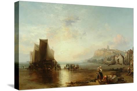 Old Folkestone, 1866-James Webb-Stretched Canvas Print