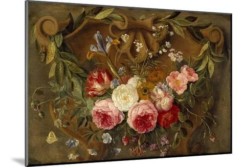 Decorative Still-Life Composition with a Garland of Flowers-Jan van Kessel the Elder-Mounted Giclee Print