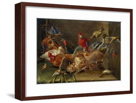 Decorative Still-Life Composition with Birds and Two Bats-Jan van Kessel the Elder-Framed Art Print