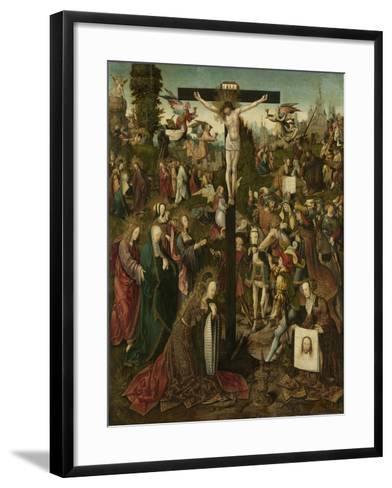 The Crucifixion, C.1507-C.1510-Jacob Cornelisz van Oostsanen-Framed Art Print