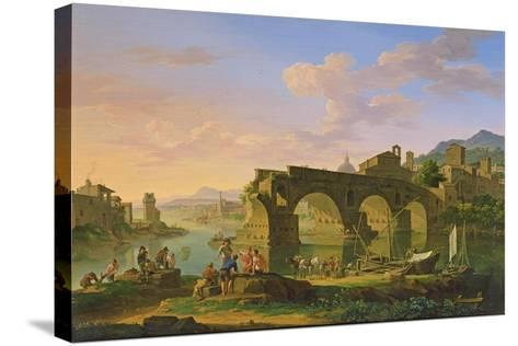 The Ponte Rotto in Rome-Jacob de Heusch-Stretched Canvas Print