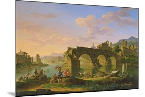 The Ponte Rotto in Rome-Jacob de Heusch-Mounted Giclee Print