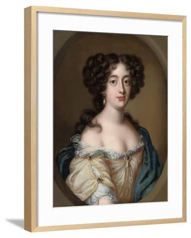 Portrait of a Lady Traditionally Identified as Ortensia Mancini-Jacob Ferdinand Voet-Framed Art Print