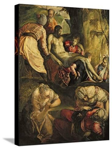 Christ Carried to the Tomb, Late 1550s-Jacopo Robusti Tintoretto-Stretched Canvas Print
