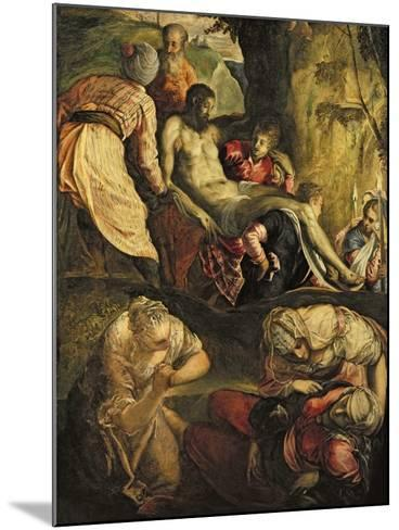 Christ Carried to the Tomb, Late 1550s-Jacopo Robusti Tintoretto-Mounted Giclee Print