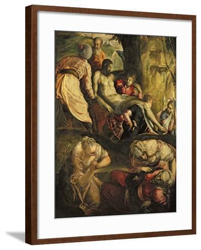 Christ Carried to the Tomb, Late 1550s-Jacopo Robusti Tintoretto-Framed Art Print