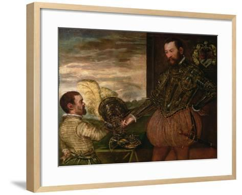 Scipio Clusone with a Dwarf Valet-Jacopo Robusti Tintoretto-Framed Art Print