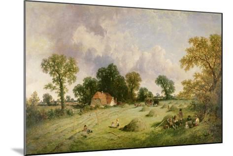 Haymaking in Hampshire-James Edwin Meadows-Mounted Giclee Print