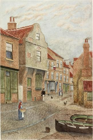 Old Shields-James Henry Cleet-Stretched Canvas Print