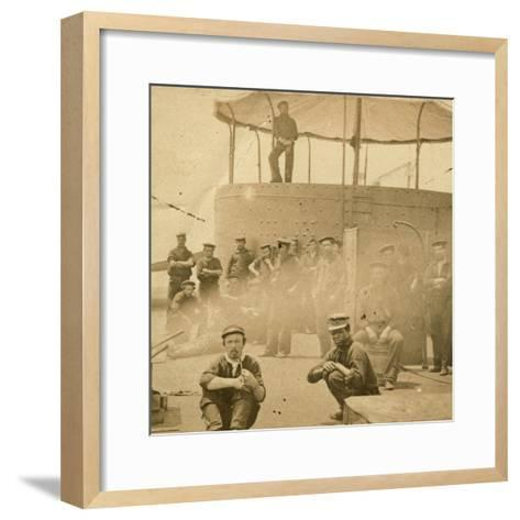 Crew on the Deck of the USS Monitor, 1862-James F^ Gibson-Framed Art Print