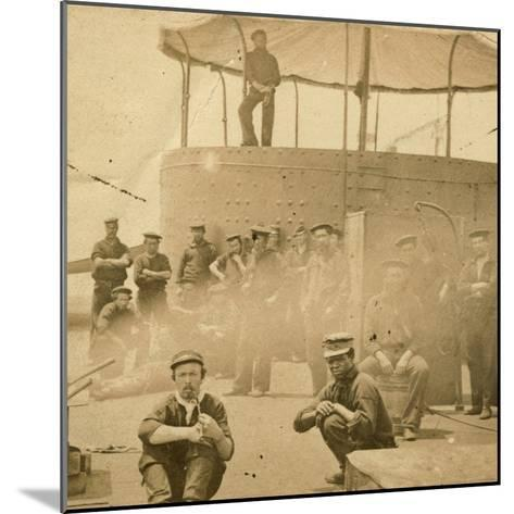 Crew on the Deck of the USS Monitor, 1862-James F^ Gibson-Mounted Photographic Print