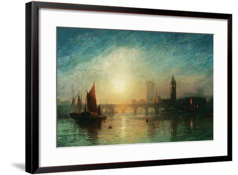 View of Westminster Bridge and the Houses of Parliament-James Francis Danby-Framed Art Print