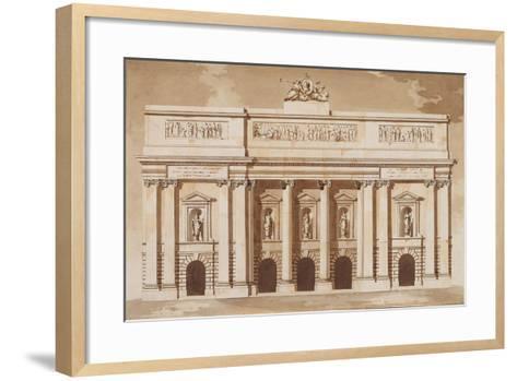Elevation for the West Front of Parliament House-James Gandon-Framed Art Print