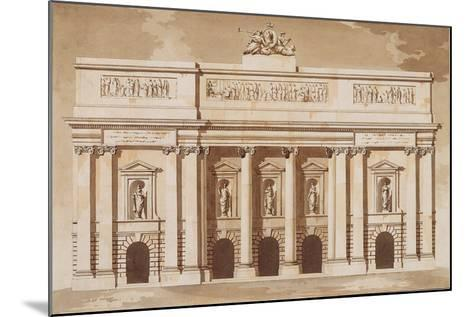 Elevation for the West Front of Parliament House-James Gandon-Mounted Giclee Print