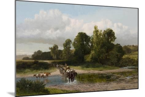 A Ford on the Whitadder, Berwickshire-James Peel-Mounted Giclee Print