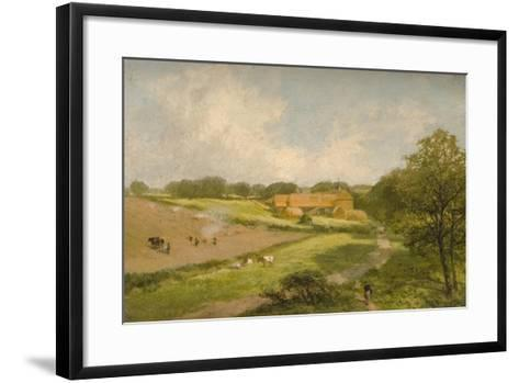 Landscape with Farm Buildings-James Peel-Framed Art Print