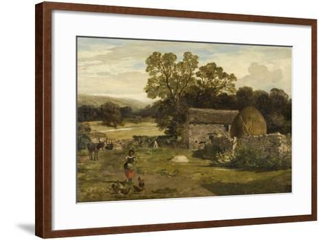 Landscape with a Farm-James Peel-Framed Art Print