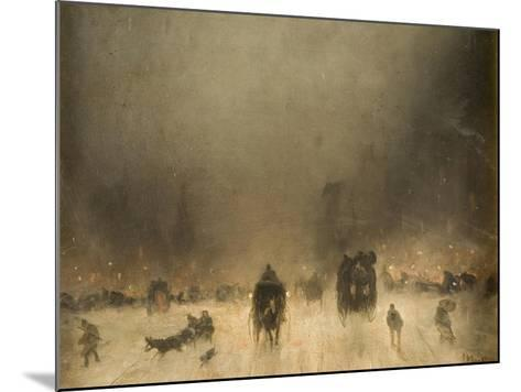 A Foggy Night in London-James Abbott McNeill Whistler-Mounted Giclee Print