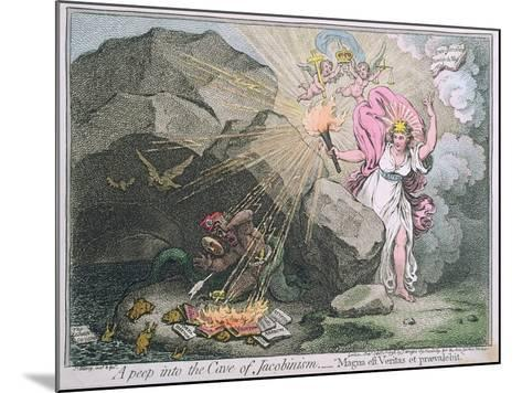 A Peep into the Cave of Jacobinism-James Gillray-Mounted Giclee Print