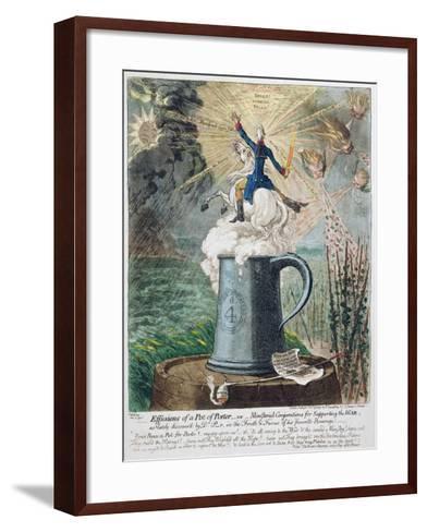 Effusions of a Pot of Porter-James Gillray-Framed Art Print