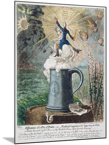 Effusions of a Pot of Porter-James Gillray-Mounted Giclee Print