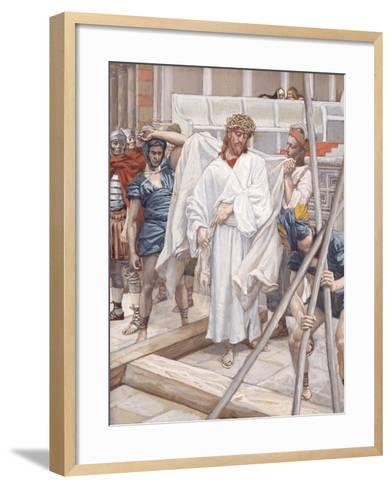And They Put Him in His Own Raiment for 'The Life of Christ'-James Jacques Joseph Tissot-Framed Art Print