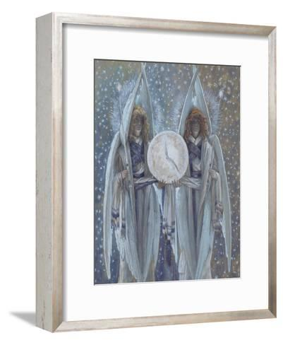 Angels Supporting a Dial Which Indicates the Hours of the Different Scenes of the Passion for 'The-James Jacques Joseph Tissot-Framed Art Print