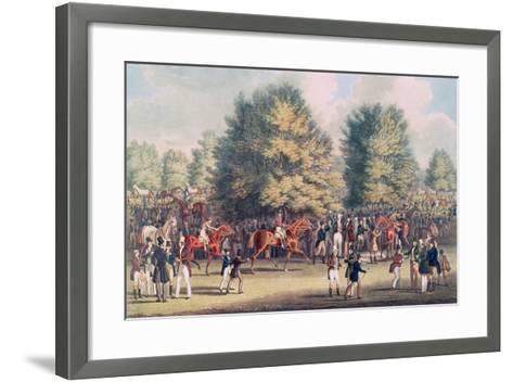 Epsom, Saddling in the Warren-James Pollard-Framed Art Print