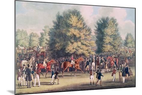 Epsom, Saddling in the Warren-James Pollard-Mounted Giclee Print
