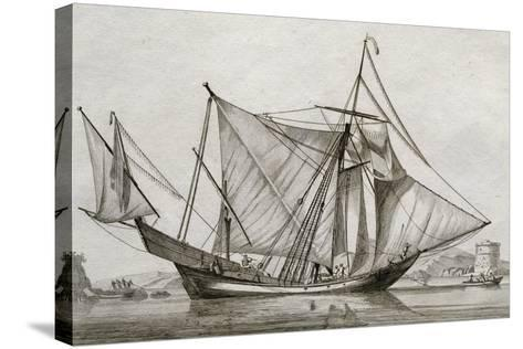 Greek Ship, 18th Century-Jan Beaugean-Stretched Canvas Print
