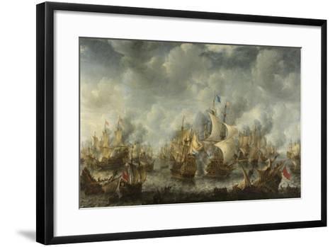 The Battle of Terheide, 1653-66-Jan Beerstraten-Framed Art Print