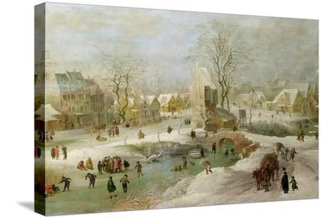 Winter Scene in Holland-Jan Brueghel the Elder-Stretched Canvas Print
