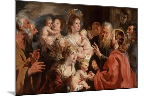 Suffer the Little Children to Come Unto Me, 1615-16-Jacob Jordaens-Mounted Giclee Print